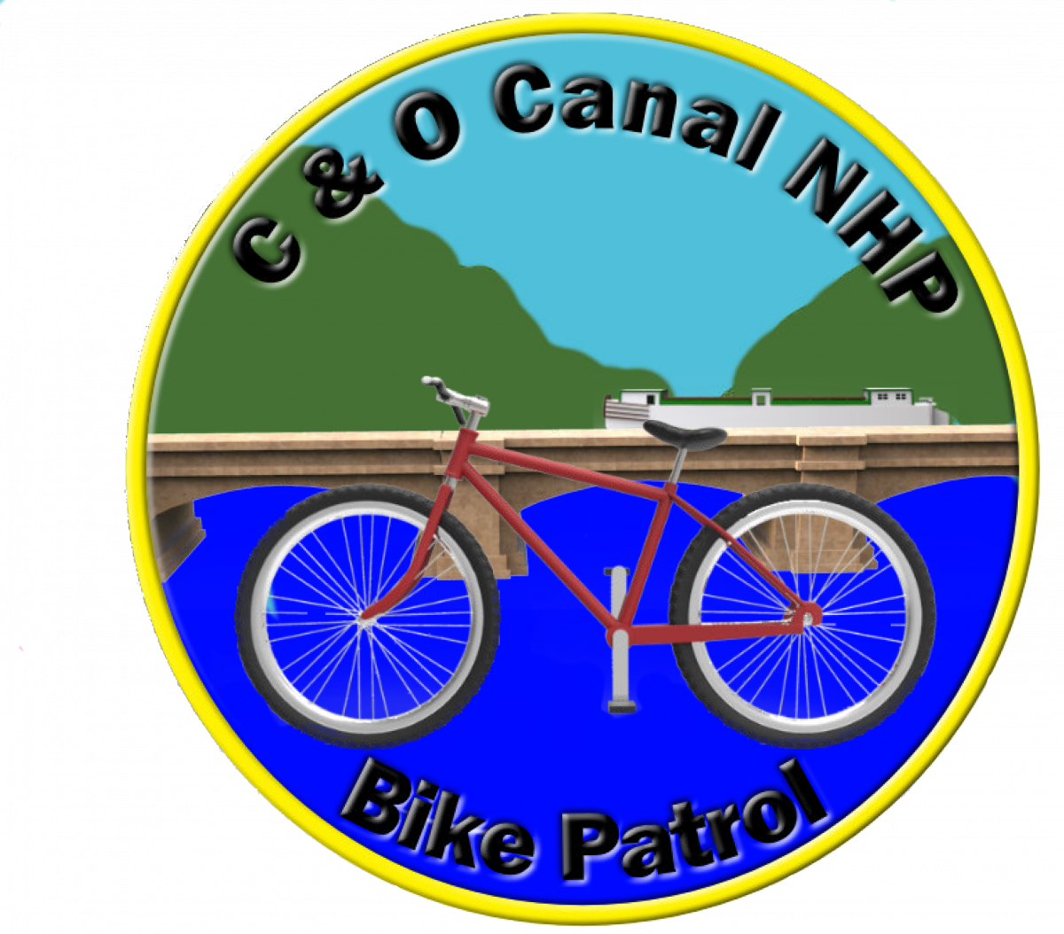 C and O Canal NHP Bike Patrol Logo