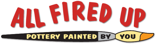 All Fired Up Pottery Painted by You Logo
